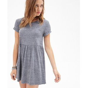 Heathered Babydoll Dress